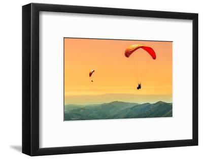 Duo Paragliding Flight-Aurelien Laforet-Framed Photographic Print