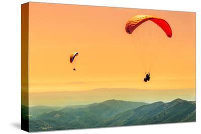 Duo Paragliding Flight-Aurelien Laforet-Stretched Canvas Print