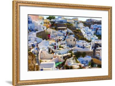 Santorini Island, Greece, Tilt-Shift Effect-anastasios71-Framed Photographic Print