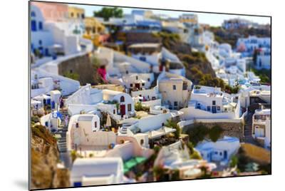 Santorini Island, Greece, Tilt-Shift Effect-anastasios71-Mounted Photographic Print