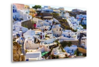 Santorini Island, Greece, Tilt-Shift Effect-anastasios71-Metal Print