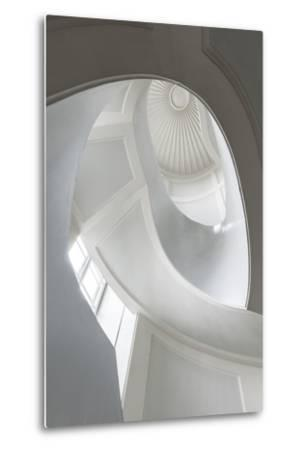 Spiral Modernist Staircase in Warsaw, Poland- Cinematographer-Metal Print