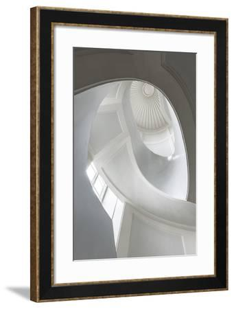 Spiral Modernist Staircase in Warsaw, Poland- Cinematographer-Framed Photographic Print