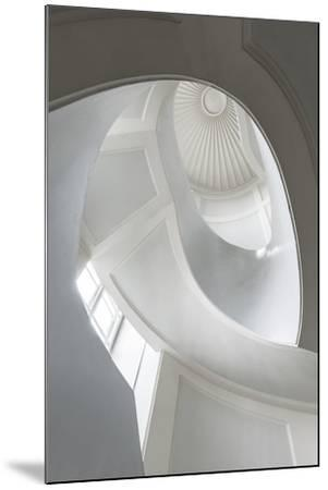 Spiral Modernist Staircase in Warsaw, Poland- Cinematographer-Mounted Photographic Print