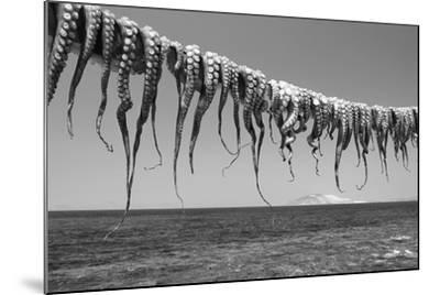 Drying Octopus Arms on Nisyros Island, Traditional Greek Seafood Prepared on a Grill, Greece-Jiri Vavricka-Mounted Photographic Print