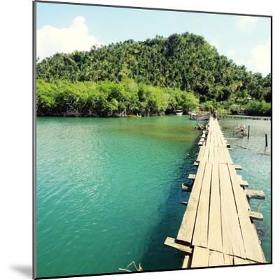 Baracoa, Cuba - Rio Miel Bridge, Part of Alejandro De Humboldt National Park. Cross Processed Color-Tupungato-Mounted Photographic Print