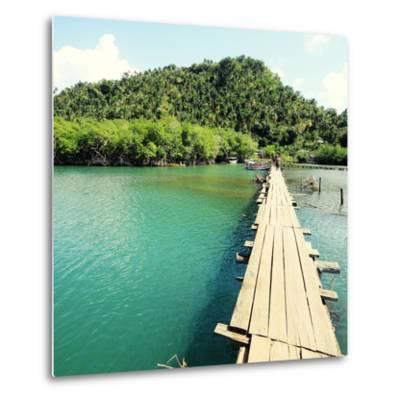 Baracoa, Cuba - Rio Miel Bridge, Part of Alejandro De Humboldt National Park. Cross Processed Color-Tupungato-Metal Print