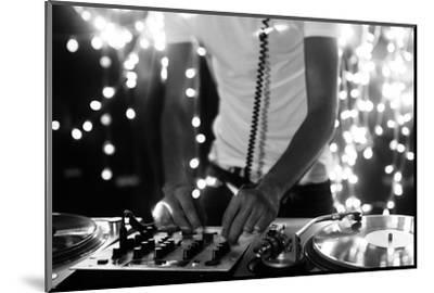 A Cool Male Dj on the Turntables-dubassy-Mounted Photographic Print