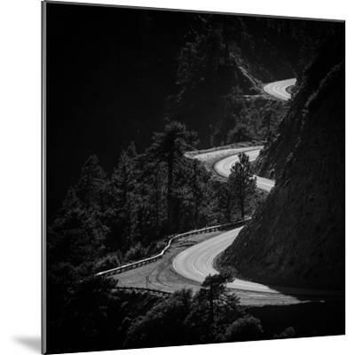 Winding Mountain Road in Black and White-Bryce Eilenberg-Mounted Photographic Print
