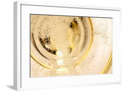 Many Tiny Bubbles in a Champagne Glass- unpict-Framed Photographic Print