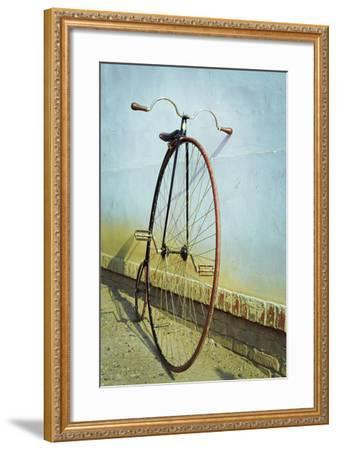 Penny Farthing ,High Wheel,Bicycle,Retro,Vertical- unclepepin-Framed Photographic Print