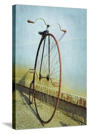 Penny Farthing ,High Wheel,Bicycle,Retro,Vertical- unclepepin-Stretched Canvas Print