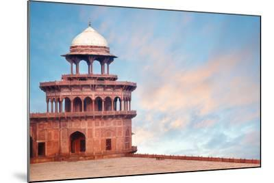 Fort Tower, Detail of Taj Mahal Architectural Complex in Agra, India-Serg Zastavkin-Mounted Photographic Print