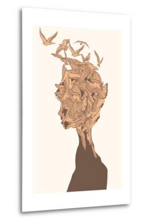 Fantasy Birds-RYGER-Metal Print