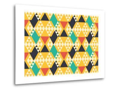 Abstract Retro Pattern. Vector Illustration.- artsandra-Metal Print