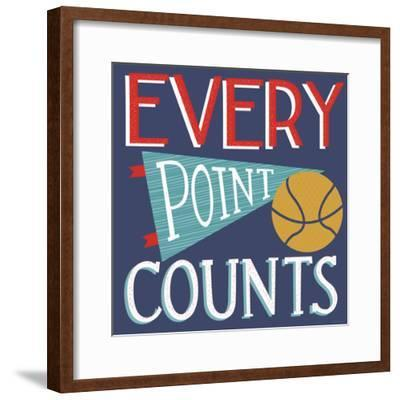 Every Point Counts-Heather Rosas-Framed Art Print