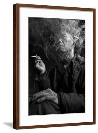 Smoke Man 1-Moises Levy-Framed Photographic Print