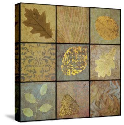 Golden Leaves Nine Square-Cora Niele-Stretched Canvas Print