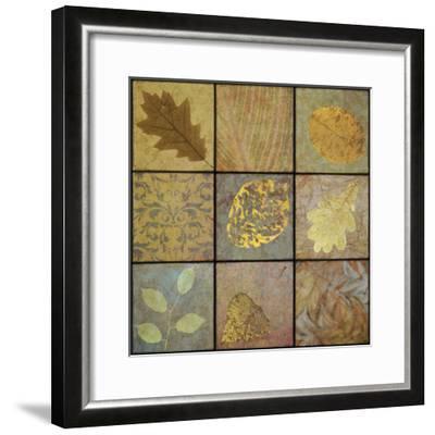 Golden Leaves Nine Square-Cora Niele-Framed Photographic Print