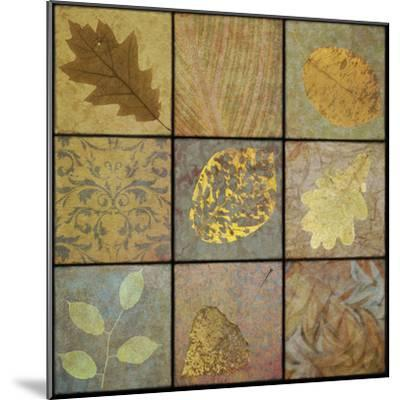 Golden Leaves Nine Square-Cora Niele-Mounted Photographic Print