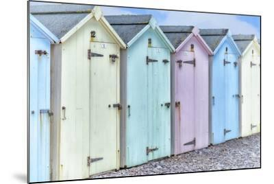 Pastel Colored Beach Cabins-Cora Niele-Mounted Photographic Print