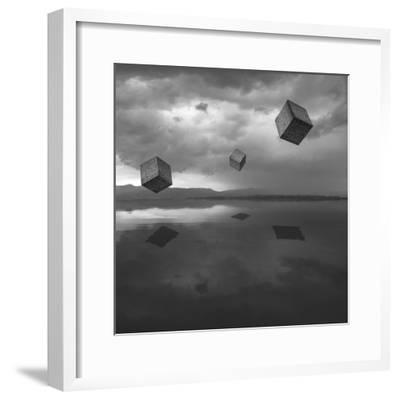 Cubos Levitando 3 Flat-Moises Levy-Framed Photographic Print
