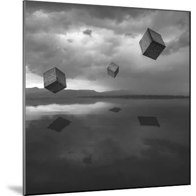 Cubos Levitando 3 Flat-Moises Levy-Mounted Photographic Print