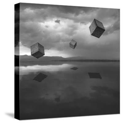 Cubos Levitando 3 Flat-Moises Levy-Stretched Canvas Print
