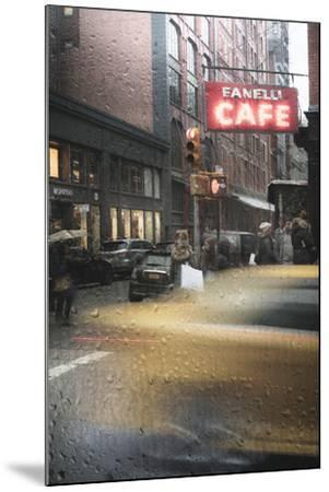 Cafe And Cab Rain-Moises Levy-Mounted Photographic Print