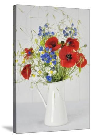 Jug with Wildflowers-Cora Niele-Stretched Canvas Print