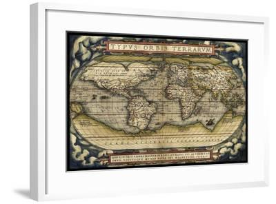 Cosmos Ortelius World Map 1570-Vintage Lavoie-Framed Giclee Print