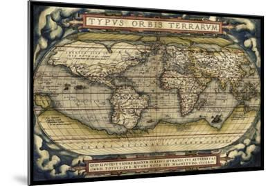 Cosmos Ortelius World Map 1570-Vintage Lavoie-Mounted Giclee Print
