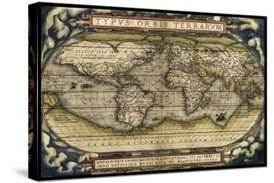 Cosmos Ortelius World Map 1570-Vintage Lavoie-Stretched Canvas Print
