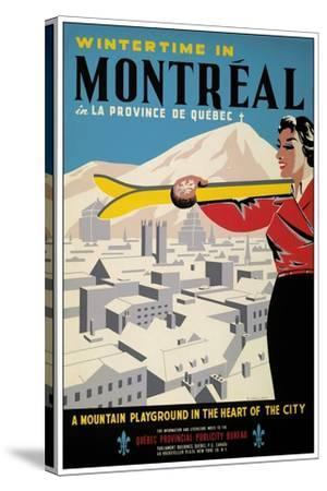 Travel 0245-Vintage Lavoie-Stretched Canvas Print