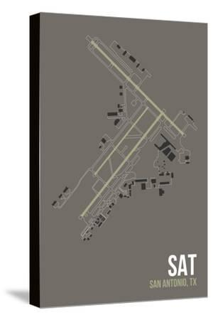 SAT Airport Layout-08 Left-Stretched Canvas Print