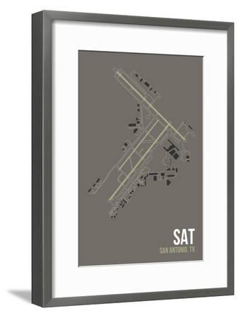 SAT Airport Layout-08 Left-Framed Giclee Print