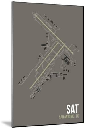 SAT Airport Layout-08 Left-Mounted Giclee Print