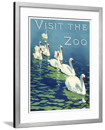 The Zoo 002-Vintage Lavoie-Framed Giclee Print