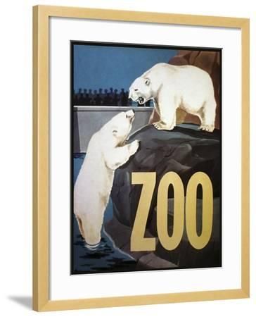 The Zoo 003-Vintage Lavoie-Framed Giclee Print