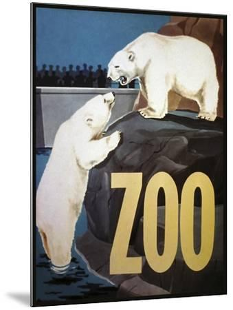 The Zoo 003-Vintage Lavoie-Mounted Giclee Print