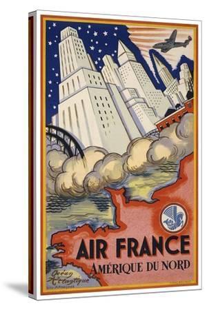 Travel Air 0006-Vintage Lavoie-Stretched Canvas Print