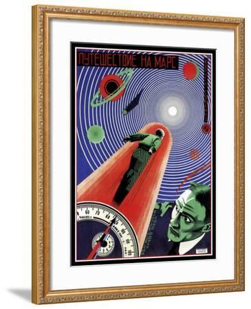 Journey To Mars Russian Constructivist-Vintage Lavoie-Framed Giclee Print