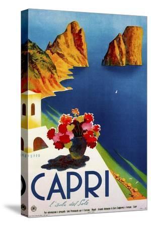 Travel 0109-Vintage Lavoie-Stretched Canvas Print