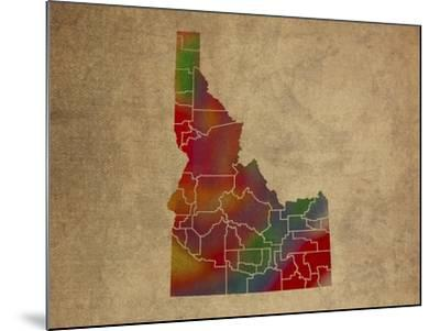 ID Colorful Counties-Red Atlas Designs-Mounted Giclee Print