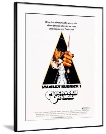 A Clockwork Orange, Malcolm Mcdowell, 1971--Framed Poster