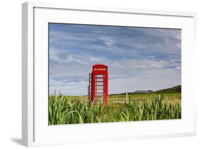 Pastoral Phone Box-Michael Blanchette Photography-Framed Photographic Print
