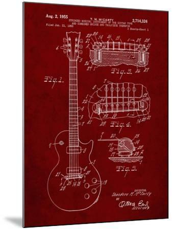 PP47 Burgundy-Borders Cole-Mounted Giclee Print