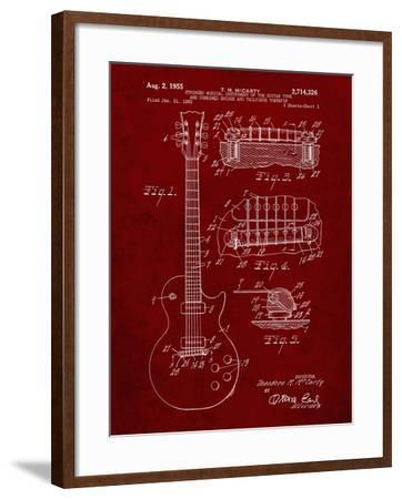 PP47 Burgundy-Borders Cole-Framed Giclee Print