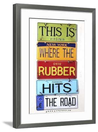 Rubber Hits The Road-Gregory Constantine-Framed Giclee Print