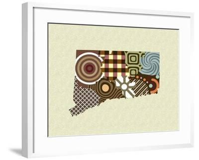 Connecticut State Map-Lanre Adefioye-Framed Giclee Print